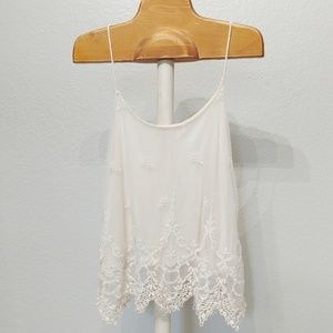 Pins and Needles Cream Lace Strappy Tank